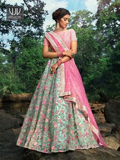 Rs7,800.00 Pink Lehenga, Lehenga Choli, Party Wear Lehenga, Saree Shopping, Latest Sarees, Indian Wedding Outfits, Festival Wear, Looking Stunning, New Trends