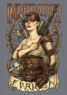 Furiosa art print by MedusaDollmaker on Etsy https://www.etsy.com/listing/239812936/imperator-furiosa-dina4-8x11-print-hand