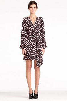 Millicent Printed Dress | Printed Dresses - Casual Dresses by DVF    Wish they had my size. Cute!