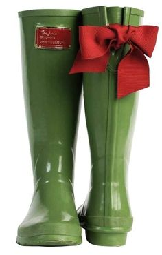 the prettiest rain boots I ever did see...EVEDON Womens Tie Detail ...