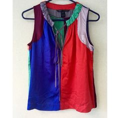 Marc Jacobs Silk Tank Top / Color Block Blouse SM Marc Jacobs Silk Tank Top. Color block Tunic,  Blouse. Size small. Multi colored. Can be worn tucked in or out over jeans. Marc Jacobs Tops