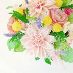 French Beaded Flower Home Decor - Lauren's Creations