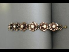 Video: Rose Petals Bracelet from Sidonia.  #Seed #Bead #Tutorials