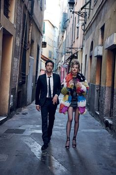 Natalia Vodianova and Adrien Brody by Peter Lindbergh for Vogue US July 2015