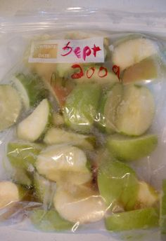 Freezing Apples and keep them from browning ~ really works - Kat