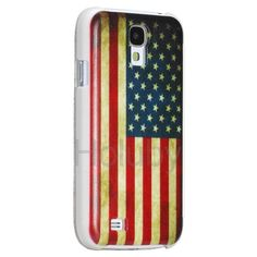 Flag Of United State Pattern Flip Leather+PC Case For Samsung Galaxy S4 SIV i9500 i9505 i9508