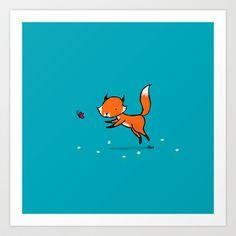 Chasing Butterflies Art Print by Dale Keys - $18.00