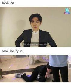 Two sided Baekhyun haha XD