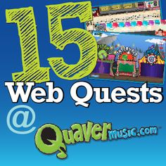 Great webquest ideas for Quaver! Awesome ways to get your kids familiar with the site and it's FREE!