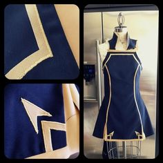 Some old progress photos of Lucina's tunic with appliqued detailing. I still keep the original pattern I drafted for reference, too!