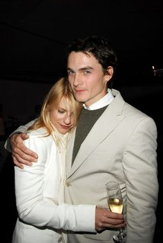 "Rupert Friend and his ""Homeland"" co-star Claire Danes........"