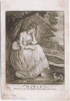 Maria [graphic]. Copyright Date: [23 July 1787] Physical Description: 1 print : mezzotint on wove paper ; plate mark 15.2 x 11.4 cm, on sheet 20 x 14 cm