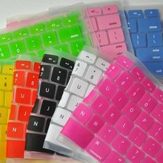 Sillicone mac book Keyboard decal- Macbook Decals key bord protection Mac pro/air keyboard cover I want a clear one so I can still have the cool stickers! Macbook Decal, Macbook Case, Macbook Pro, Macbook Accessories, Tech Accessories, Accessoires Iphone, Apple Laptop, Apple Iphone, Keyboard Cover