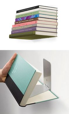 Book bookshelf - genius!