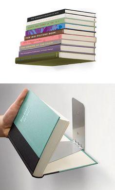 Book bookshelf - genius!
