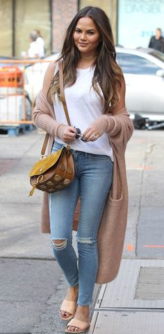 Chrissy Teigen | Ancient Greek Sandals Taygete Sandal | Celebrity Fashion and Style