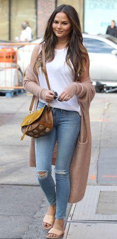Chrissy Teigen | Ancient Greek Sandals Taygete Sandal | Celebrity Fashion and Style