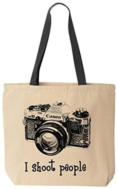 I shoot people (Canon) - Novelty Camera Photography Funny Cotton Canvas Tote Bag Black Handle - Reusable by BeeGeeTees BeeGeeTees http://www.amazon.com/dp/B00MR1HIGO/ref=cm_sw_r_pi_dp_5OTzub0BN402K