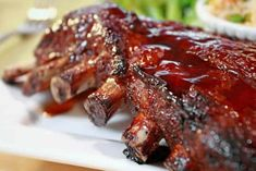 The amazing Big Green Egg ceramic grill and smoker makes it easier than ever to cook these classic BBQ Pork Ribs like a master! Ribs Au Barbecue, Bbq Pork Ribs, Sauce Barbecue, Ribs On Grill, Authentic Mexican Recipes, Mexican Food Recipes, Cooking Pork Ribs, Slow Cooker Pork Ribs, Ribs Au Four