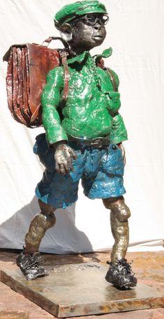"Willie Bester [""back to school Sculpture Art, Back To School, Sculpting, Appreciation, Fine Art, Gift, Artist, Sculpture, Artists"