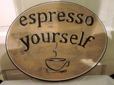 Fun plaque for your kitchen or coffee bar by danettetaylor on Etsy, $18.00