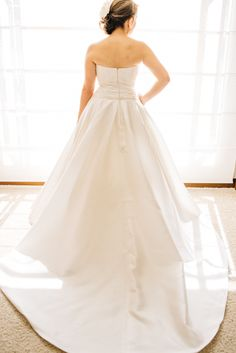 Vestido de novia en micado