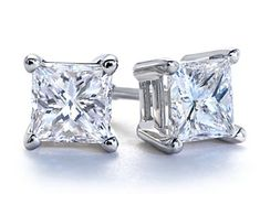 I want! I think I need to print these out and post them around the house.... Certified, 18 karat white gold, 1 karat , princess-cut diamond earrings! Anniversary Gift..Hint Hint:) I