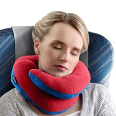 BCOZZY Chin Supporting Travel Pillow- Ergonomic Neck Cushion for Neck Pain Relief in Plane, Home, Office, Car- Adult Size, Pink