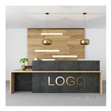 Curved Reception Desk, Office Reception Design, Salon Reception Desk, Modern Office Design, Medical Office Decor, Clinic Interior Design, Counter Design, Office Interiors, Modern Restaurant