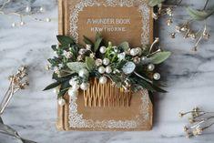 Bridal Comb, Bridal Hair Vine, Hair Comb Wedding, Pearl Bridal, Bridal Hairpiece, Flower Headpiece, Bridesmaid Flowers, Bridal Flowers, Flowers In Hair