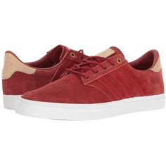 adidas Skateboarding Seeley Premiere Classified (Mystery Red/Pale... ($70) ❤ liked on Polyvore featuring men's fashion, men's shoes, men's sneakers, mens leather sneakers, mens sneakers, mens leather skate shoes, mens white shoes and mens white leather sneakers