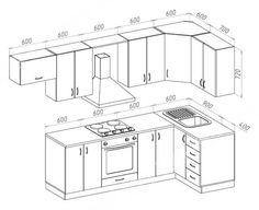 55 800 r. Kitchen Cabinets Drawing, Kitchen Drawing, Modern Kitchen Cabinets, Kitchen Room Design, Interior Design Kitchen, Kitchen Decor, Kitchen Layout Plans, Kitchen Floor Plans, Home Decor Furniture