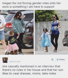 Her child might not even be a boy it's good that she lets her kids wear what makes them feel comfortable.
