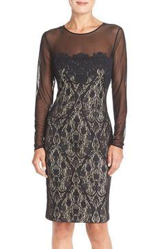 Women's Maggy London Illusion Lace Sheath Dress