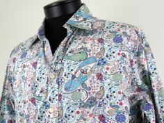 Robert Graham Paisley Regular Size L Casual Shirts for Men Mens Printed Shirts, Button Up Shirt Mens, Work Ethic, Robert Graham, Casual Shirts For Men, Paisley, Cuffs, Colorful, Shirt Dress