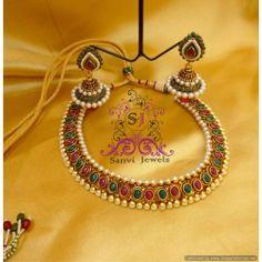 Beautiful Oval Multicolour Necklace