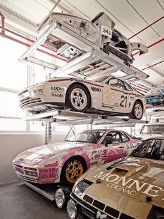 Porsche museum Stuttgart - hidden storage