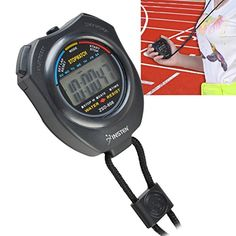 Insten Electronic LCD Timer Digital Sport Stopwatch Date Time Alarm Clock Counter Chronograph (with Neck Strap), Black Warrior Workout, Workout Gear, Truck Accessories, Accessories Store, Track My Run, Chronograph, Abs, Running, Digital