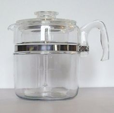 Vintage Pyrex Flameware 9 Cup Coffee Percolater by Lifeinmommatone