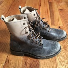 Women's Frye Veronica combat boot NEVER BEEN WORN only tried on! These boots were a gift and are awesome but just a little too small for me Frye Shoes Combat & Moto Boots