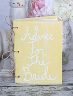 Vintage Shabby Chic Bridal Shower | Bridal Shower Wedding Guest Book Vintage Inspired Shabby Chic Decor