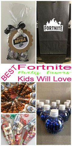 Find the best party favors for a Fortnite theme party. Great for birthday parties, video game parties and more. Goodie bags, favor bags and more. Find the coolest Fortnite party favor ideas! Birthday Party Goodie Bags, 13th Birthday Parties, Birthday Party Favors, Birthday Fun, Birthday Party Decorations, Birthday Ideas, 12th Birthday, Birthday Cakes, Video Game Party