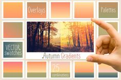 Autumn gradients by Polar Vectors on @creativemarket