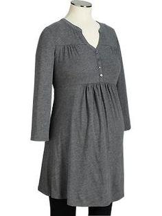 Maternity Split-Neck Jersey Tunics | Old Navy