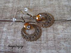 """Ohrhänger - Ohrhänger """"Lampwork"""" in orange - ein Designerstück von things2enjoy bei DaWanda"""