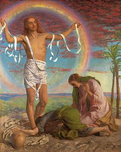 Christ And The Two Marys  William Holman Hunt