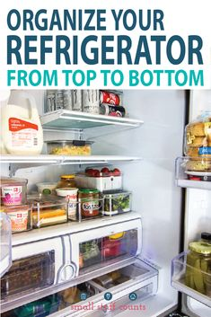 How To Organize A French Door Refrigerator (+ Free KonMari Checklist) Need fridge organizing ideas? Maximize that storage space with these tips for organizing a French door refrigerator. Your kitchen will be organized in no time! Freezer Organization, Kitchen Organization, Organization Hacks, Organizing Ideas, Household Organization, Organizing Life, Fridge Shelves, Refrigerator Organization, Organize Fridge