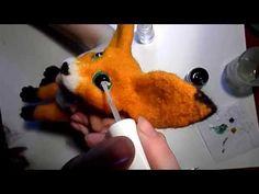 Роспись глазок для авторской игрушки. Валяный лисенок фенек - YouTube