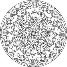 Detailed Coloring Pages For Adults | coloring pages 7 10 from 86 votes flower mandala coloring pages ...