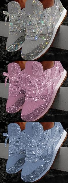 OFF Today!Women Muffin Rhinestone New Crystal Platform Sneakers - Schuhe - Zapatos Platform Sneakers, Shoes Sneakers, Shoes Heels, Cute Shoes, Me Too Shoes, Sneakers Fashion, Fashion Shoes, Lace Up Heels, Designer Shoes